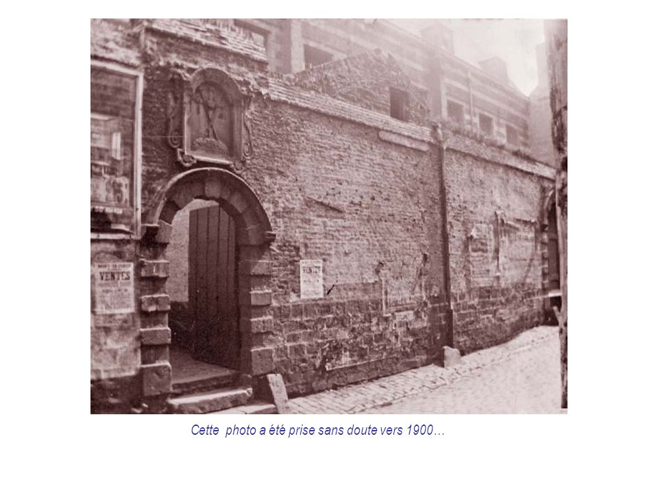 Cette photo a été prise sans doute vers 1900…