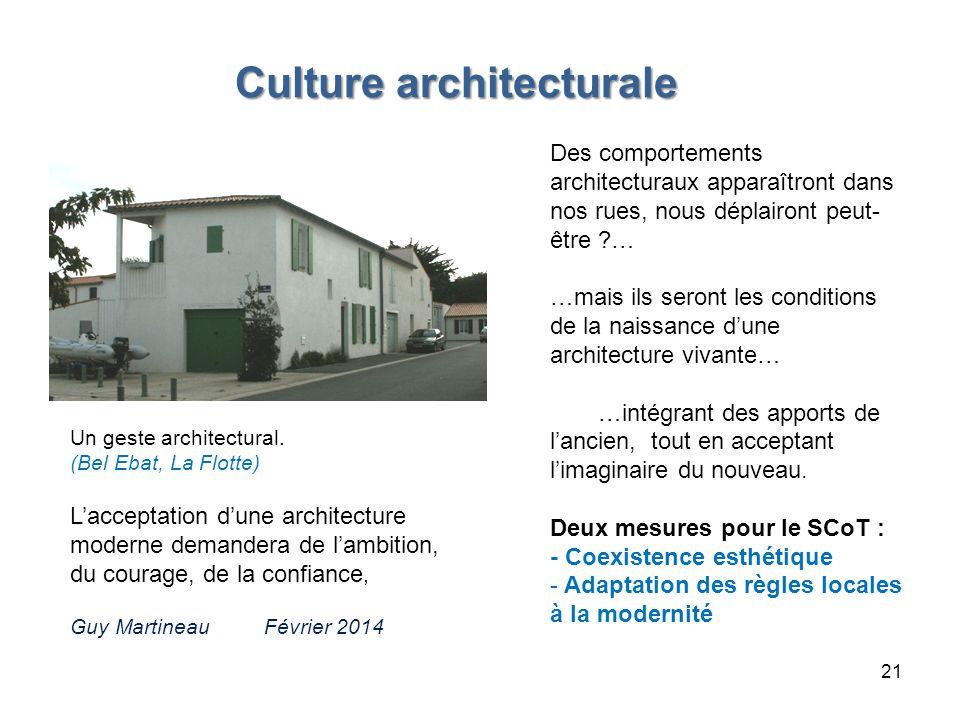 Culture architecturale Culture architecturale Des comportements architecturaux apparaîtront dans nos rues, nous déplairont peut- être ?… …mais ils ser