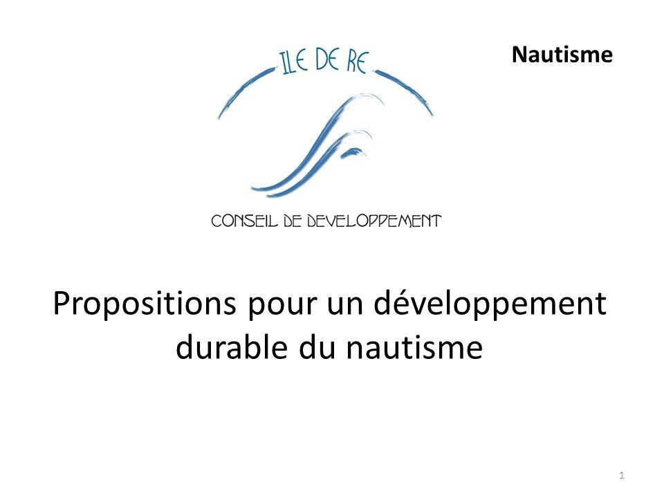 Propositions pour un développement durable du nautisme 1 Nautisme