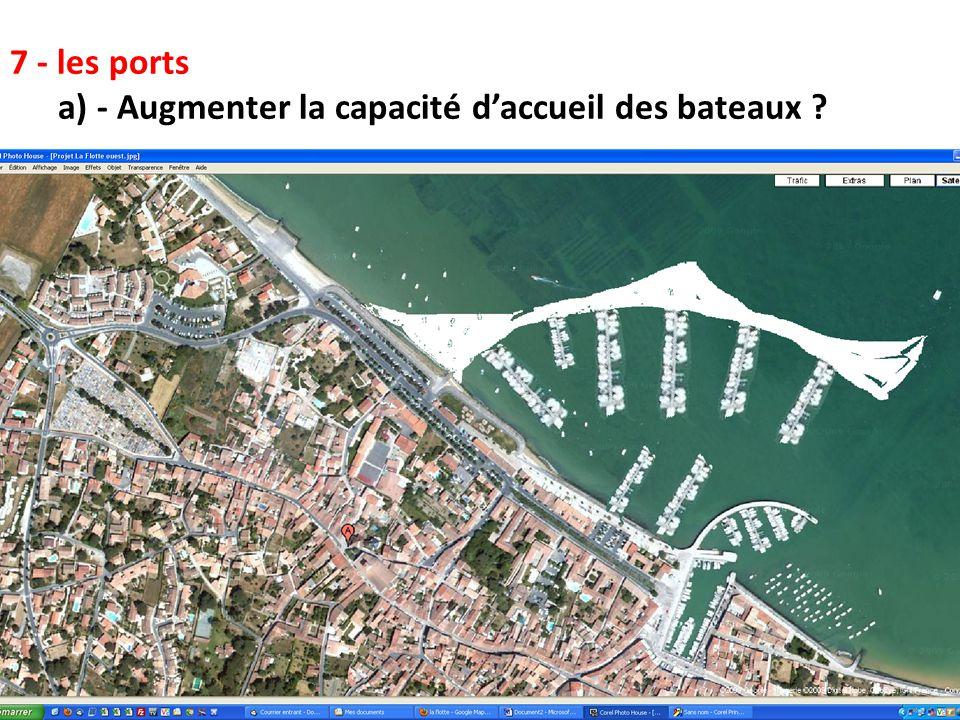 7 - les ports a) - Augmenter la capacité d'accueil des bateaux 18