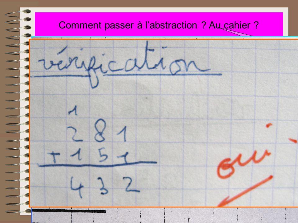 431-151 Comment passer à l'abstraction ? Au cahier ? Avec les remerciements à Aurélie, IMF De la méthode Toujours la même On dessine (2 couleurs)