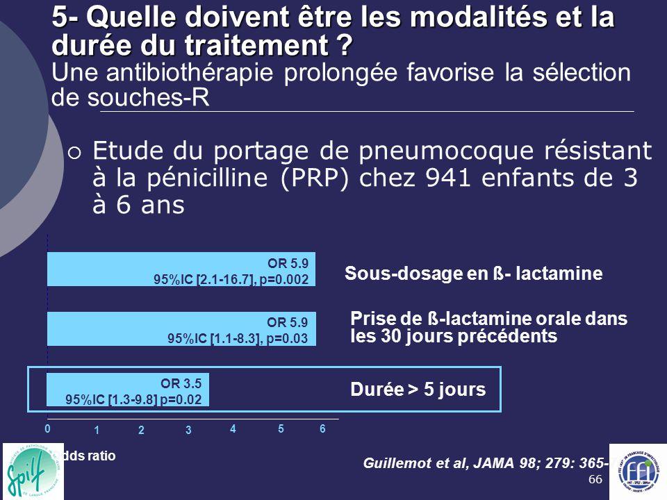 66 5- Quelle doivent être les modalités et la durée du traitement ? 5- Quelle doivent être les modalités et la durée du traitement ? Une antibiothérap