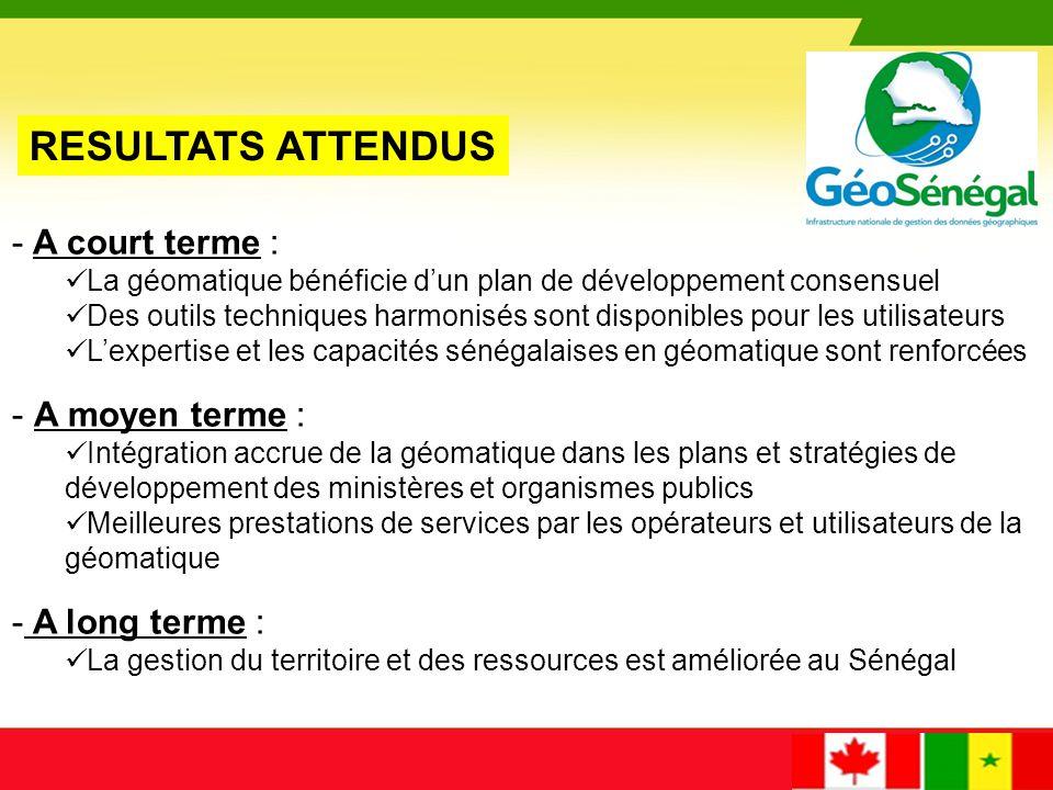 Les contributions canadiennes et sénégalaises au projet Contribution de l'ACDI: 5,568, 500$ CAFinancière Contribution de RNCan: 1,286,112$ CAEn nature Contribution du Sénégal:1,025,146$ CAEn nature