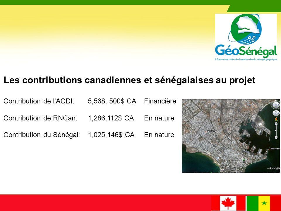 COMPOSANTE 100 : Élaboration du PNG, feuille de route du gouvernement sénégalais pour une meilleure utilisation de la géomatique comme outil de gestion du territoire COMPOSANTE 200 : Communication du PNG LOGO COMPOSANTE 300 : Amélioration du SSRS (Mise en place d'une station permanente GNSS) COMPOSANTE 400 : Développement du géorépertoire COMPOSANTE 500 : Base de données géospatiale prioritaire COMPOSANTE 600 : Formation en géomatique (formateurs, gestionnaires, journalistes, décideurs, dans les régions, etc.