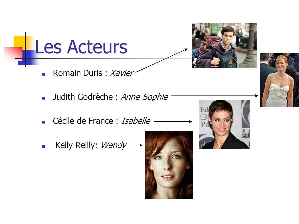 Les Acteurs Romain Duris : Xavier Judith Godrèche : Anne-Sophie Cécile de France : Isabelle Kelly Reilly: Wendy