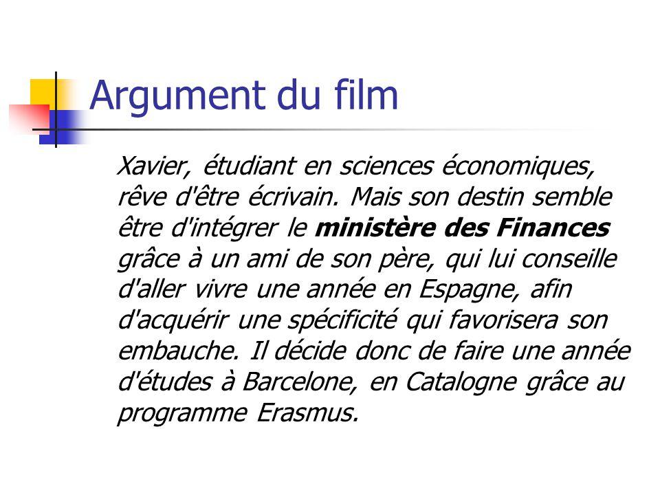 Argument du film Xavier, étudiant en sciences économiques, rêve d'être écrivain. Mais son destin semble être d'intégrer le ministère des Finances grâc