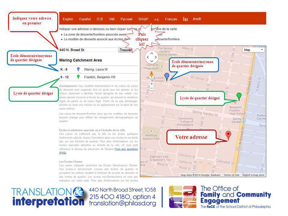 Etes-vous nouveaux en ville et voulez connaitre l'ecole de quartier de votre enfant.