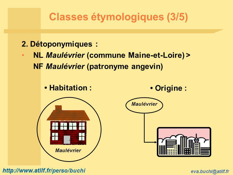 http://www.atilf.fr eva.buchi@atilf.fr http://www.atilf.fr/perso/buchi Classes étymologiques (3/5) 2.