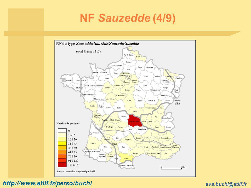 http://www.atilf.fr eva.buchi@atilf.fr http://www.atilf.fr/perso/buchi NF Sauzedde (4/9)