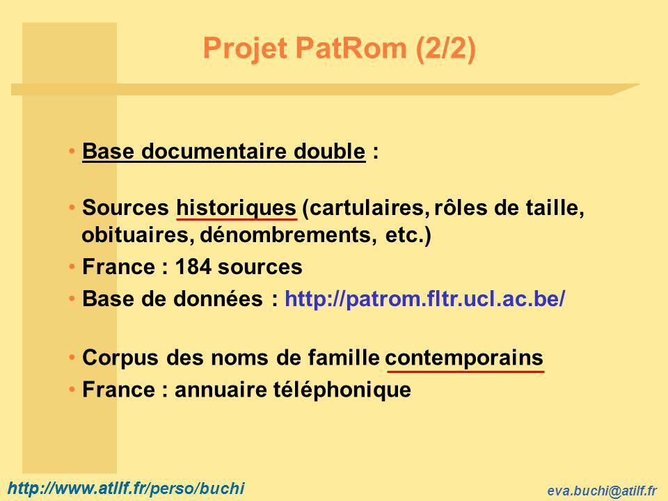http://www.atilf.fr eva.buchi@atilf.fr http://www.atilf.fr/perso/buchi NF Chatot (4/7) Structure morphologique de l étymon .