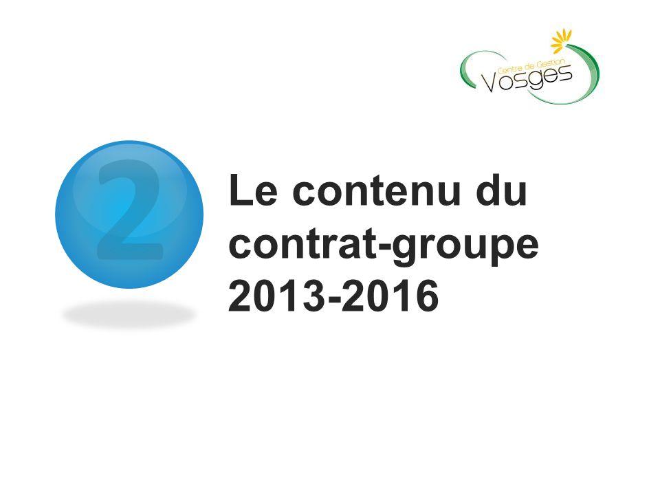 2 Le contenu du contrat-groupe 2013-2016