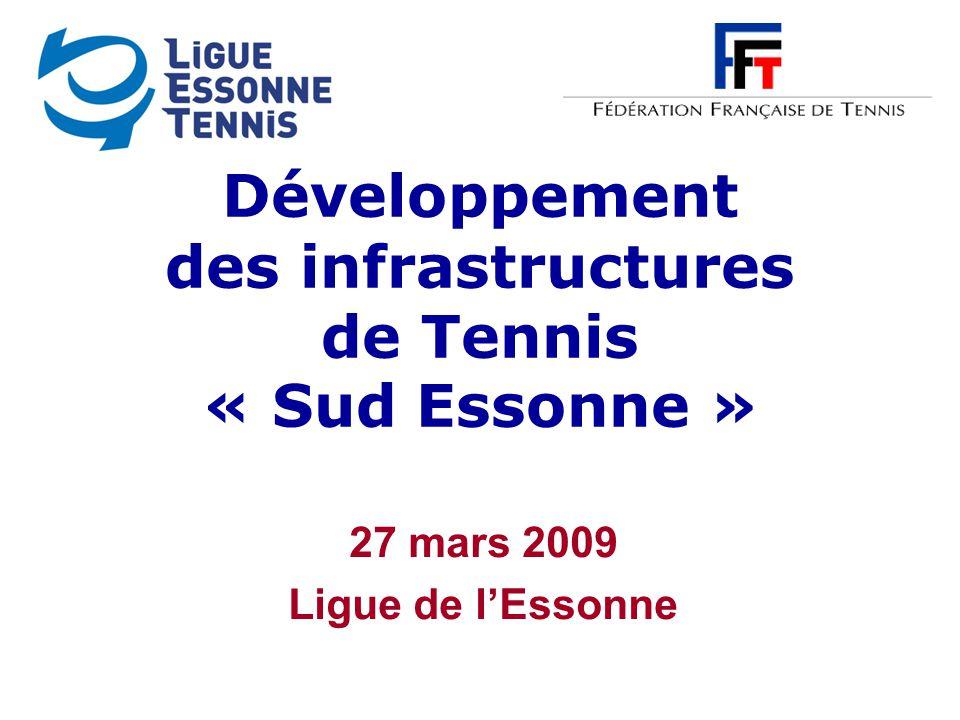 Développement des infrastructures de Tennis « Sud Essonne » 27 mars 2009 Ligue de l'Essonne