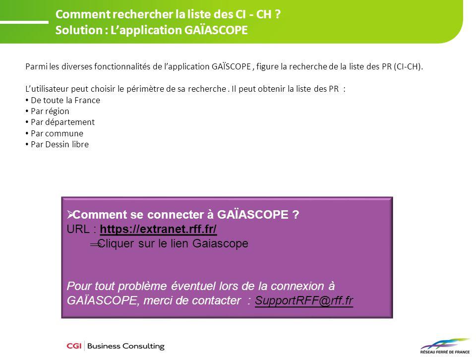 Rechercher la liste des CI-CH de la France entière