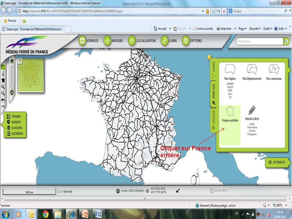 Cliquer sur France entière