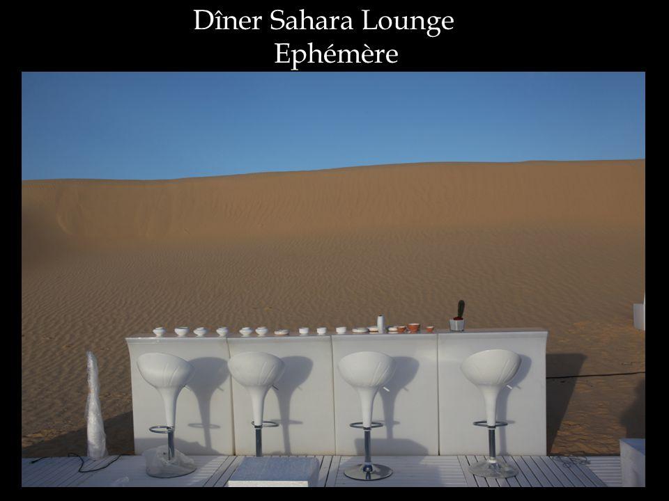 Dîner Sahara Lounge Ephémère