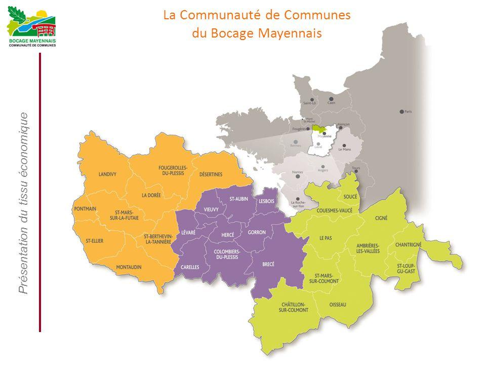 Présentation du tissu économique Mars 2014 La Communauté de Communes du Bocage Mayennais