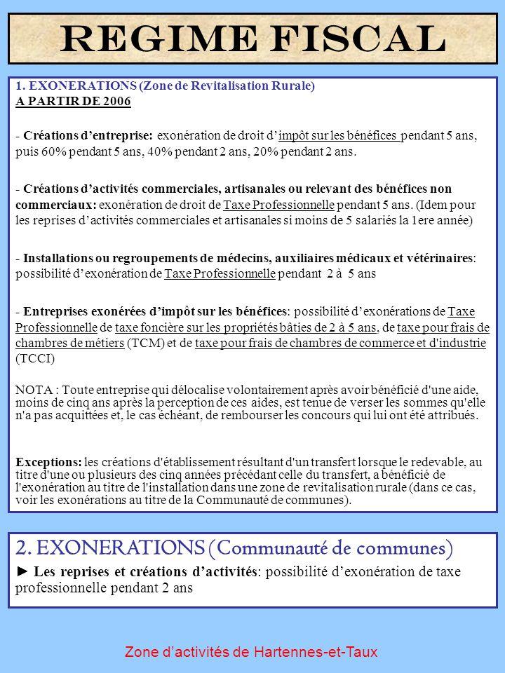 1. EXONERATIONS (Zone de Revitalisation Rurale) A PARTIR DE 2006 - Créations d'entreprise: exonération de droit d'impôt sur les bénéfices pendant 5 an