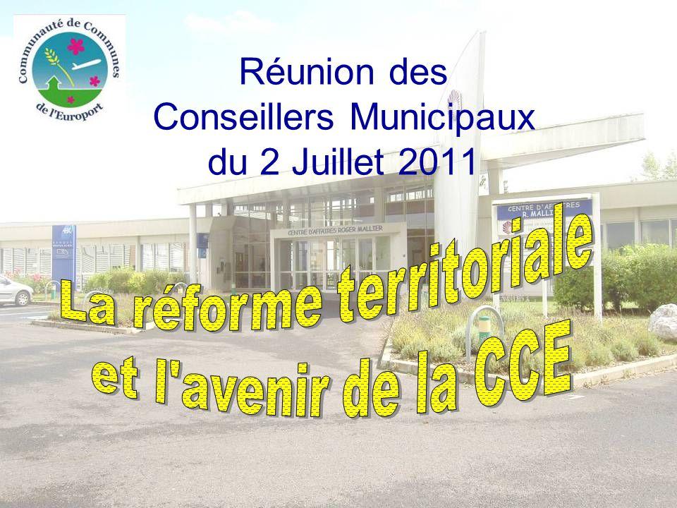 Réunion des Conseillers Municipaux du 2 Juillet 2011