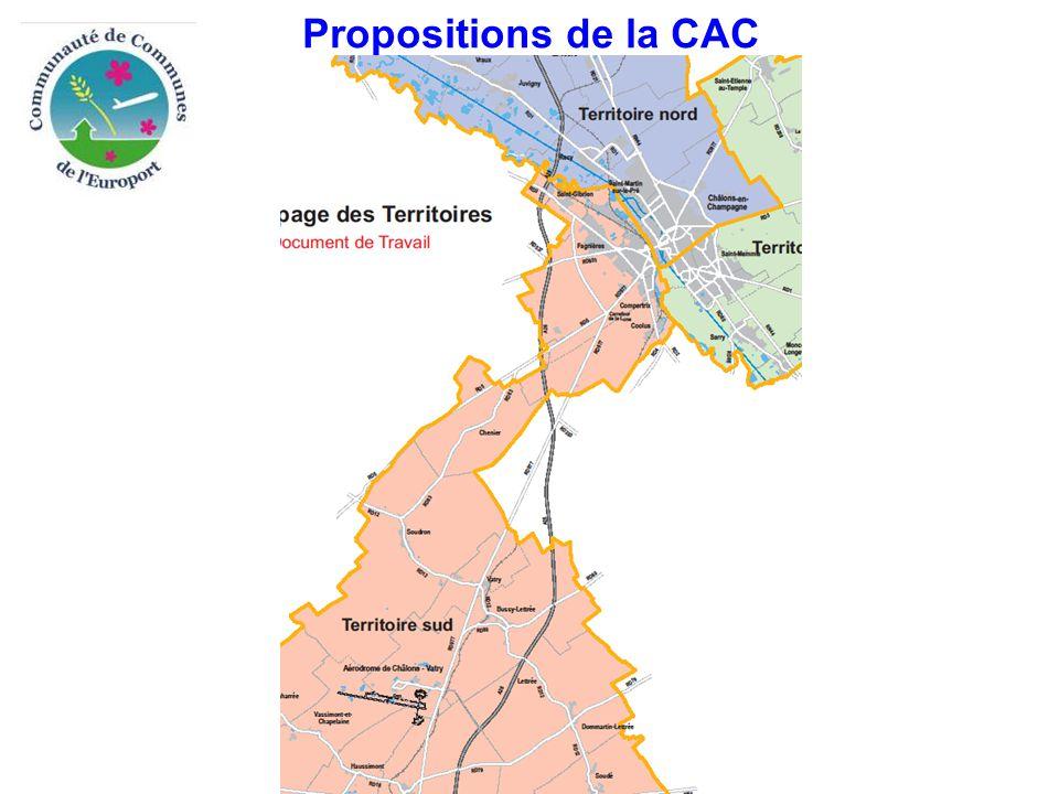 Propositions de la CAC
