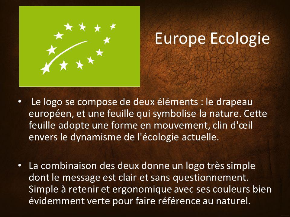 Europe Ecologie Le logo se compose de deux éléments : le drapeau européen, et une feuille qui symbolise la nature. Cette feuille adopte une forme en m
