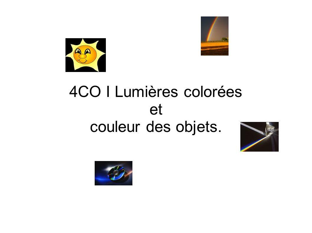 4CO I Lumières colorées et couleur des objets.