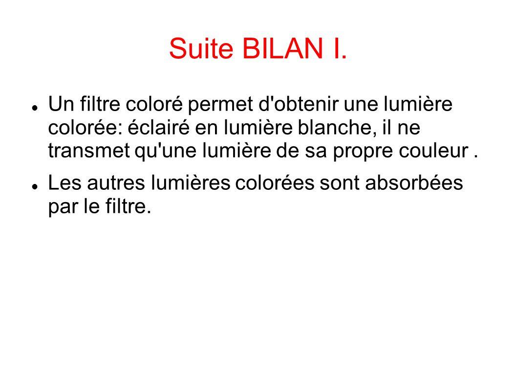 Suite BILAN I.