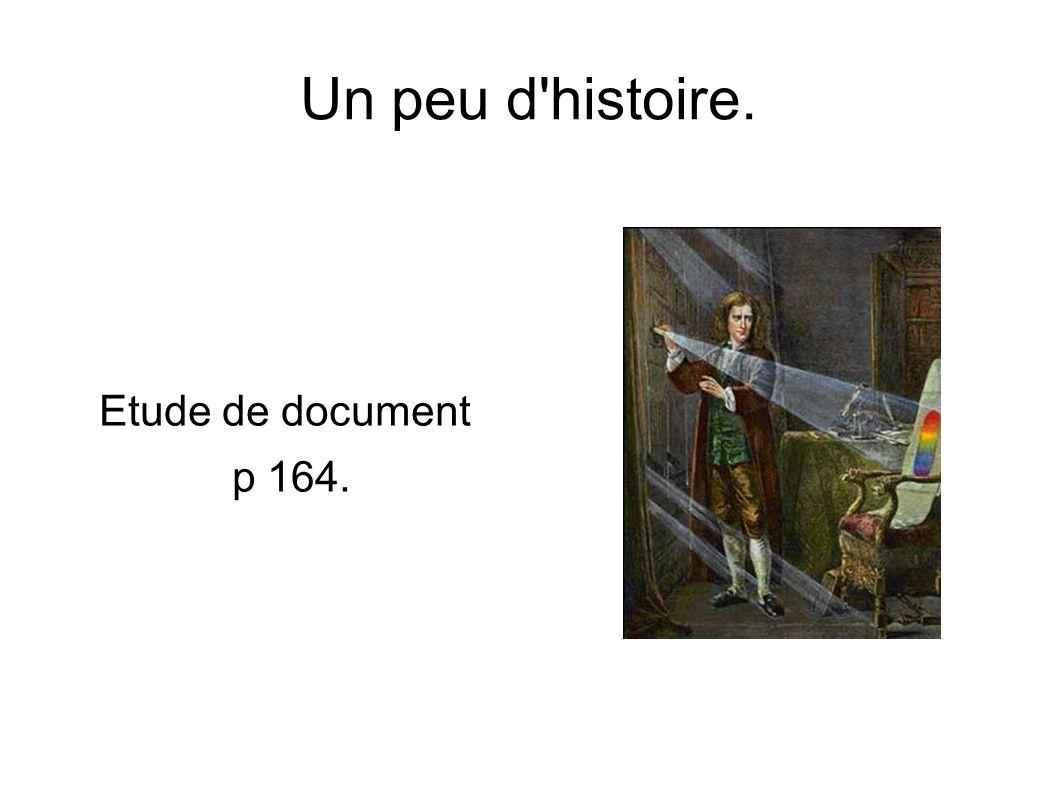 Un peu d histoire. Etude de document p 164.