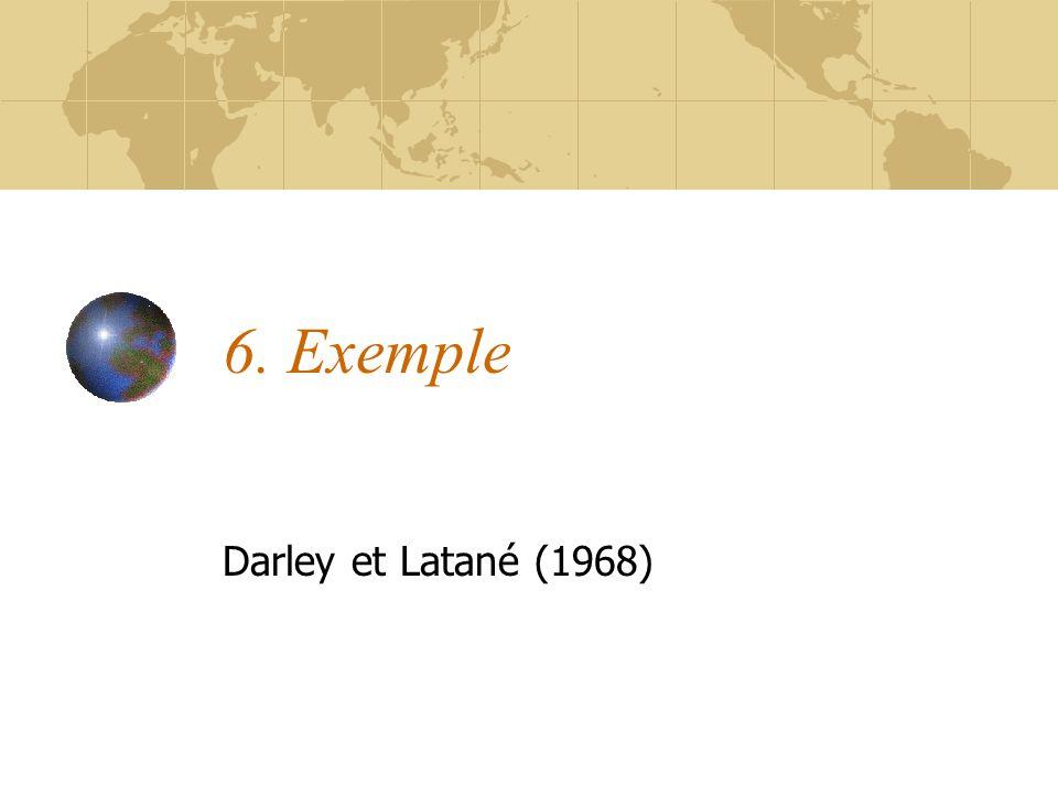 6. Exemple Darley et Latané (1968)
