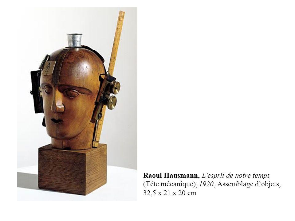 Raoul Hausmann, L'esprit de notre temps (Tête mécanique), 1920, Assemblage d'objets, 32,5 x 21 x 20 cm