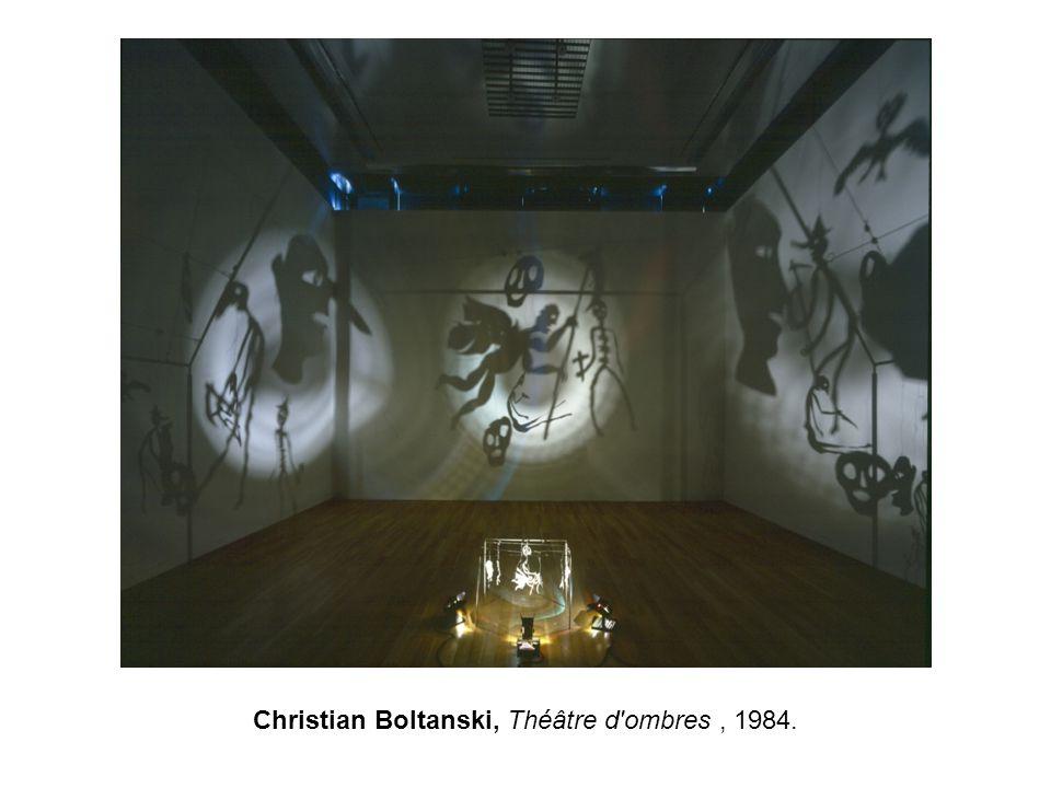 Christian Boltanski, Théâtre d'ombres, 1984.