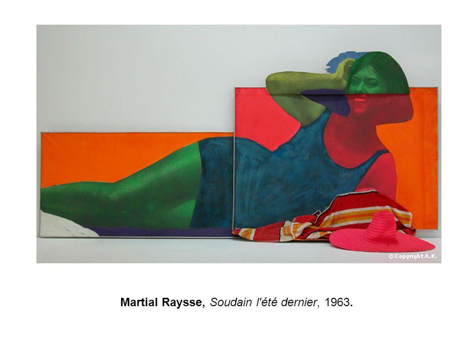Martial Raysse, Soudain l'été dernier, 1963.