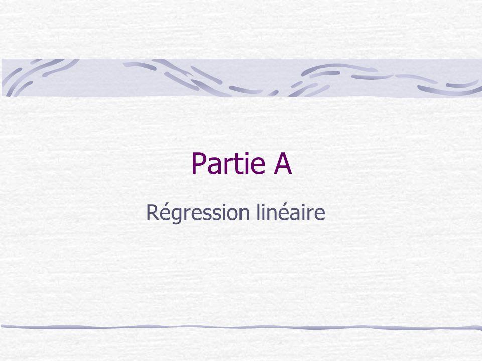 Partie A Régression linéaire
