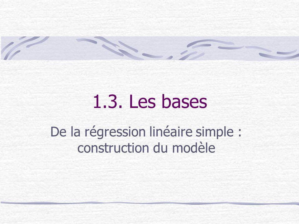 1.3. Les bases De la régression linéaire simple : construction du modèle