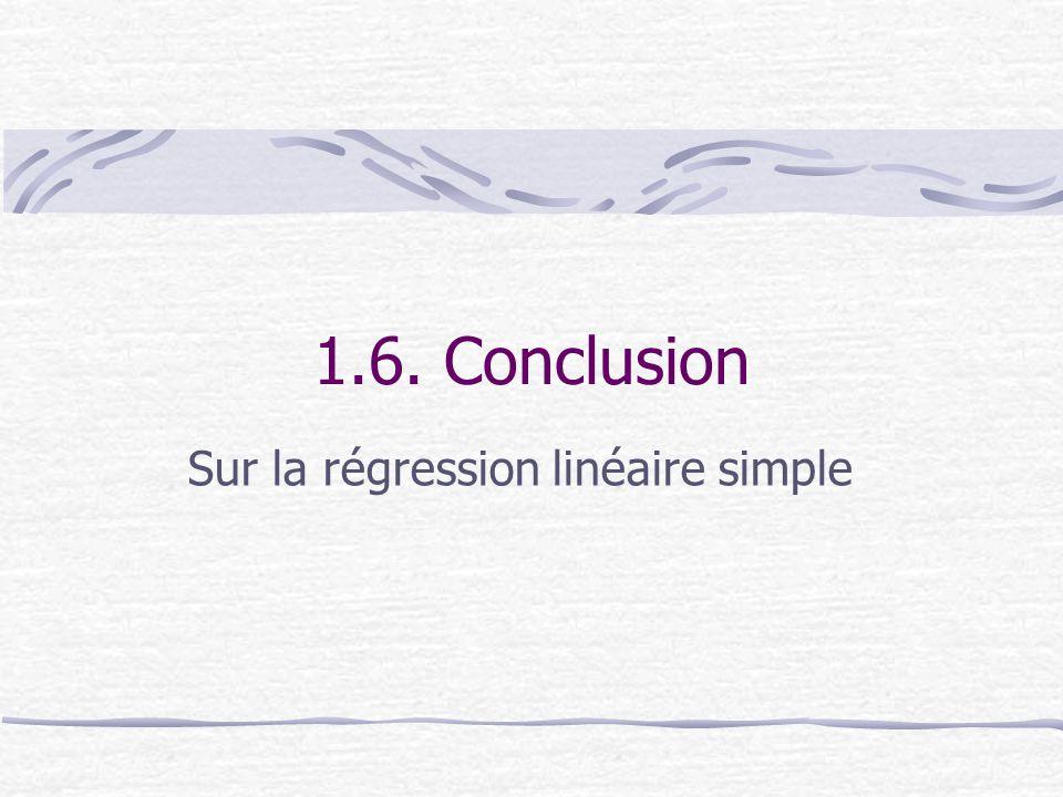 1.6. Conclusion Sur la régression linéaire simple