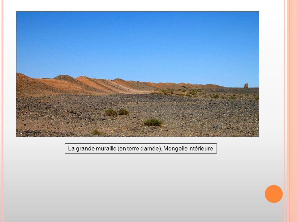 La grande muraille (en terre damée), Mongolie intérieure