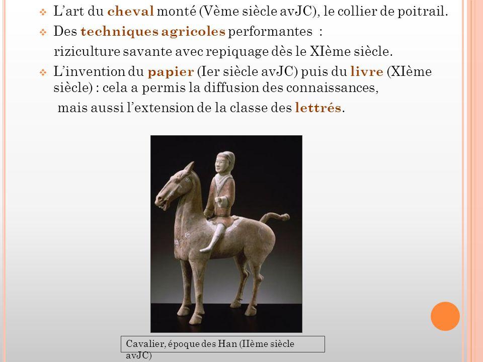  L'art du cheval monté (Vème siècle avJC), le collier de poitrail.
