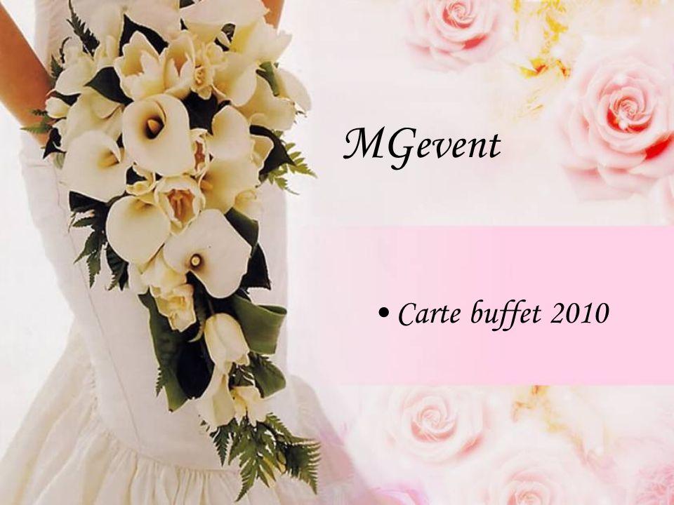 MG event Carte buffet 2010