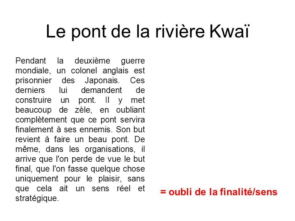 Le pont de la rivière Kwaï Pendant la deuxième guerre mondiale, un colonel anglais est prisonnier des Japonais. Ces derniers lui demandent de construi
