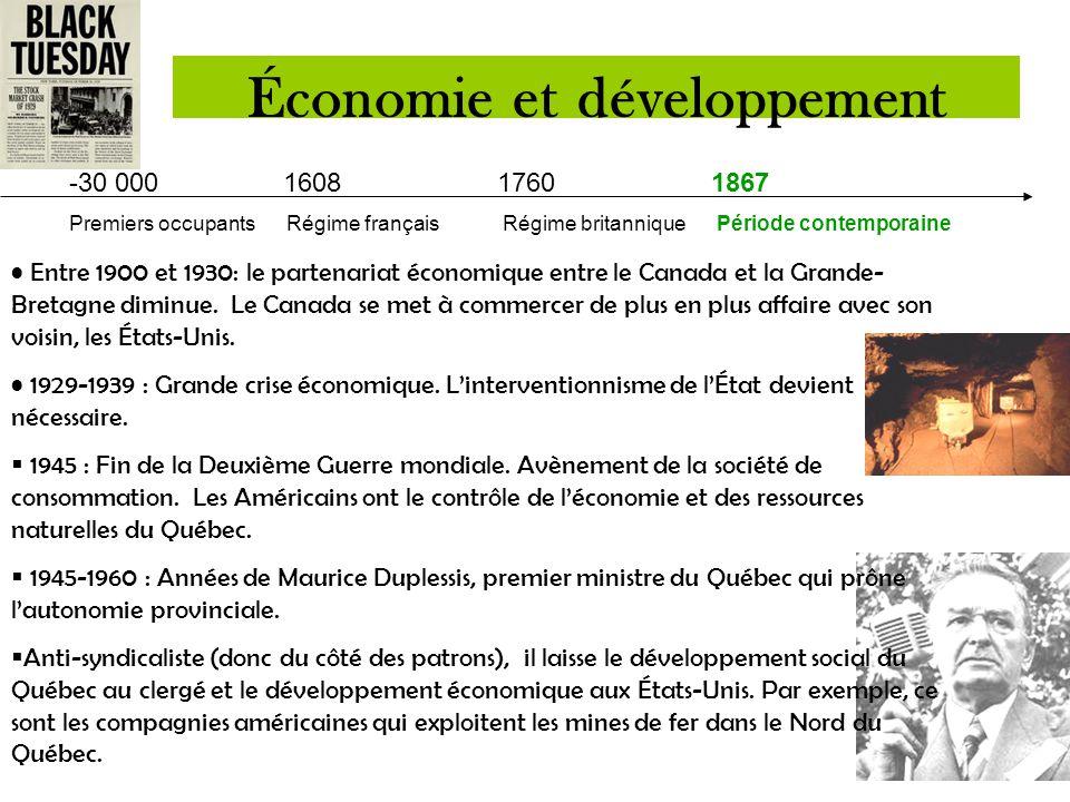 -30 000 1608 1760 1867 Premiers occupants Régime françaisRégime britannique Période contemporaine  Une des causes de la création du Canada (AANB) en