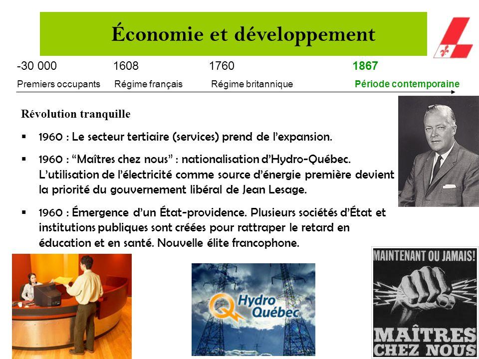 -30 000 160817601867 Premiers occupants Régime français Régime britannique Période contemporaine Entre 1900 et 1930: le partenariat économique entre l