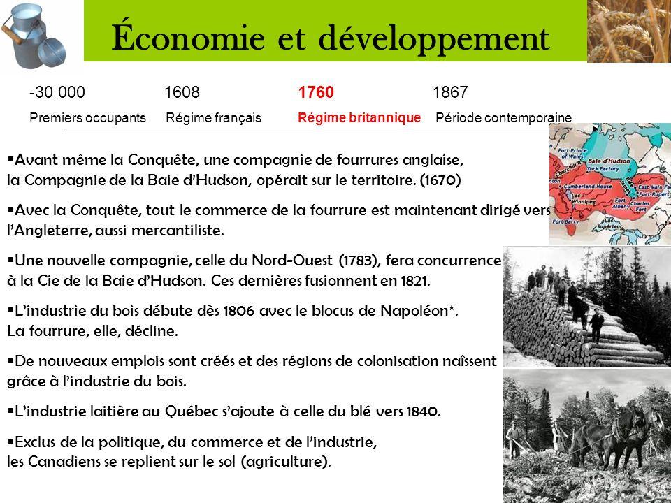 -30 000 16081760 1867 Premiers occupants Régime français Régime britannique Période contemporaine  La N-F est une colonie très vaste, mais peu peuplé