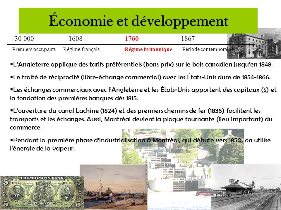 -30 000 160817601867 Premiers occupants Régime françaisRégime britannique Période contemporaine  Avant même la Conquête, une compagnie de fourrures a