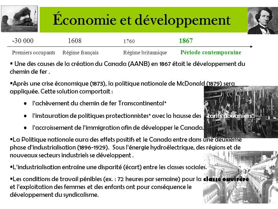  L'Angleterre applique des tarifs préférentiels (bons prix) sur le bois canadien jusqu'en 1848.  Le traité de réciprocité (libre-échange commercial)