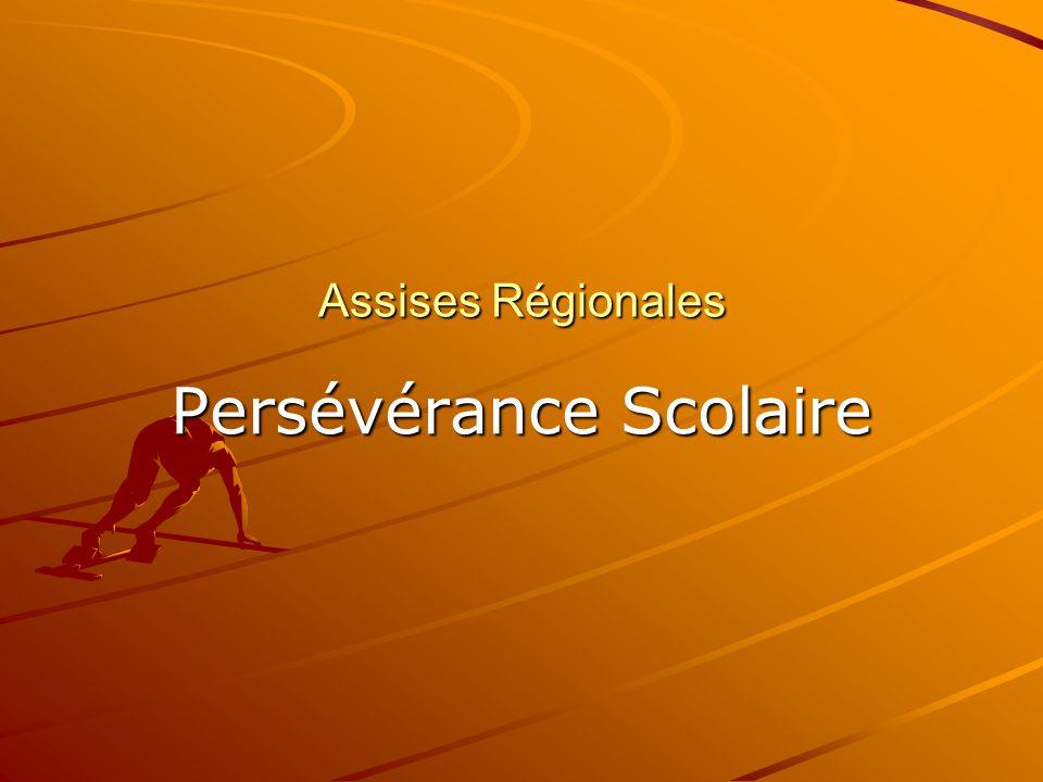 Assises Régionales Persévérance Scolaire