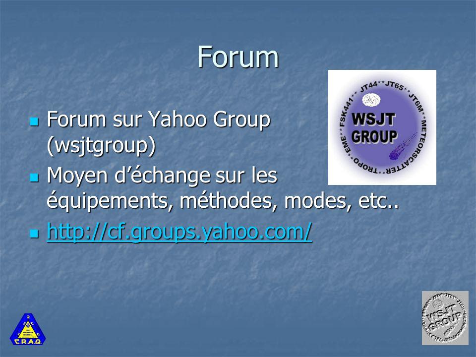 Forum Forum sur Yahoo Group (wsjtgroup) Forum sur Yahoo Group (wsjtgroup) Moyen d'échange sur les équipements, méthodes, modes, etc..