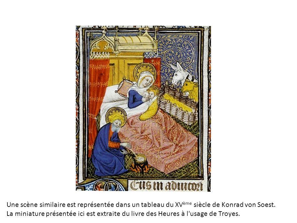 Une scène similaire est représentée dans un tableau du XV ème siècle de Konrad von Soest.