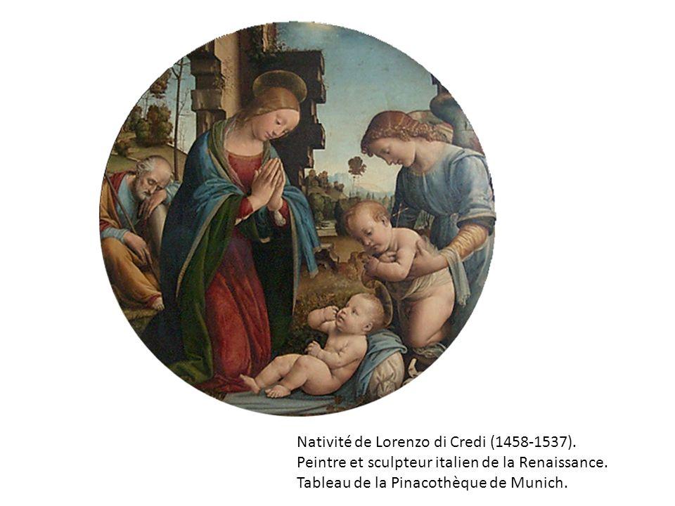 Nativité de Lorenzo di Credi (1458-1537).Peintre et sculpteur italien de la Renaissance.