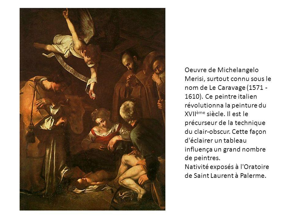 Oeuvre de Michelangelo Merisi, surtout connu sous le nom de Le Caravage (1571 - 1610).