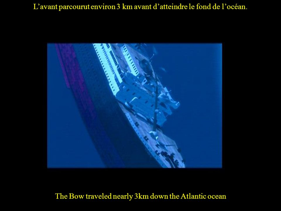 Then the stern flooded and foundered completely leaving no trace of Titanic.