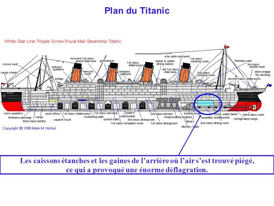 Par rapport à l'avant, l'arrière du paquebot est tellement détruit qu'on peut difficilement y reconnaître l'épave d'un navire.